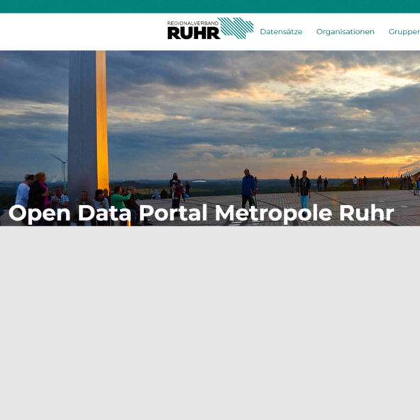 Screenshot Open Data Portal Ruhr