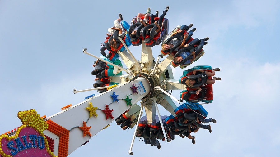 A ride at the Beecker Kirmes