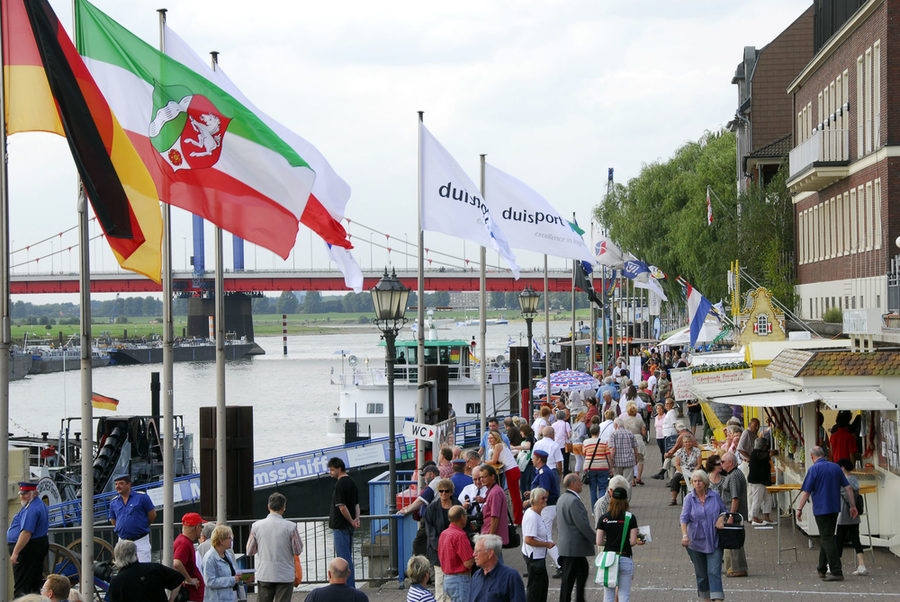 The Port Festival on the Rhine promenade