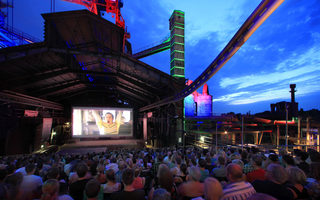 Open air cinema in the Landschaftspark
