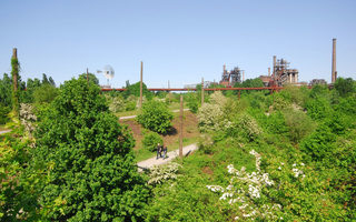 Vast green spaces in the Landschaftspark