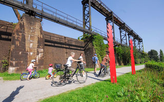 Cycling through the Landschaftspark