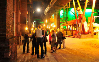 A torchlight tour around the Landschaftspark