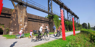 Discovering the Landschaftspark Duisburg-Nord by bike